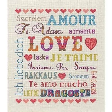 Anchor Cross Stitch Kit - Love Sampler ACS46