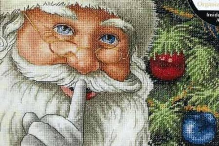 Dimensions Gold Petites Cross Stitch Kit - Christmas , Santa's Secret