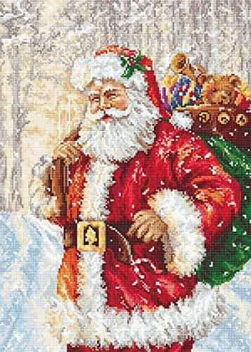 Luca S Cross Stitch Kit - Santa Claus in the Snow B575