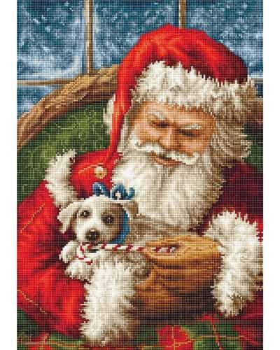 Luca S Needlepoint Tapestry Kit - Santa Claus & Puppy G561