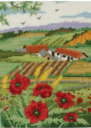 Anchor Needlepoint Tapestry Kit - Poppy Scape KT126