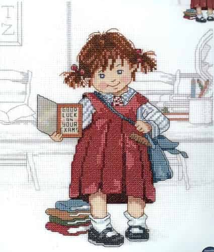 Janlynn Cross Stitch Kit - School Girl