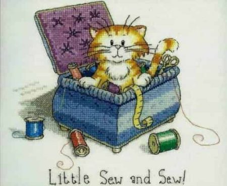 Heritage Crafts Cross Stitch Kit - Cats Rule, Little Sew & Sew