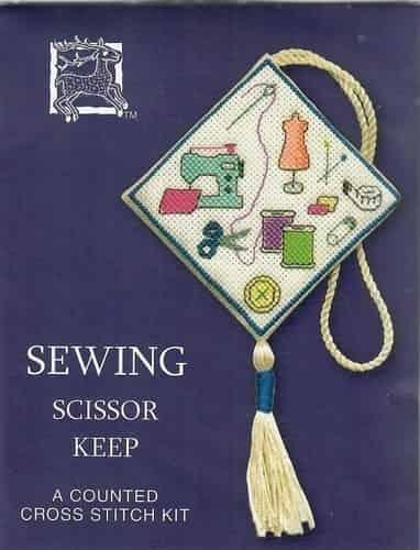 Textile Heritage Cross Stitch Kit - Scissor Keep - Sewing