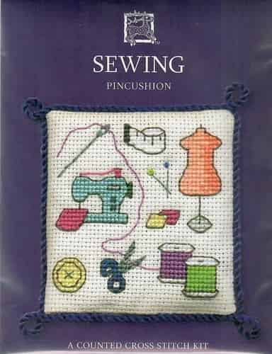 Textile Heritage Cross Stitch Kit - Pincushion - Sewing - Made in Scotland