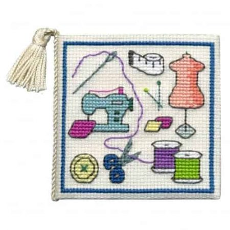 Textile Heritage Cross Stitch Kit - Sewing Needlecase - Made in Scotland
