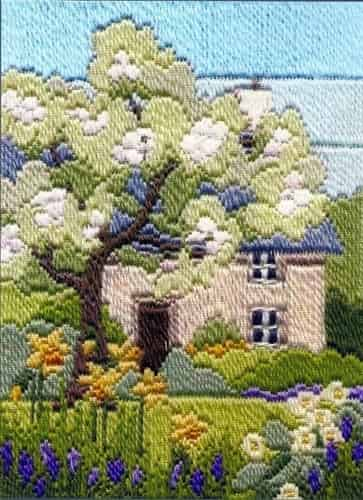 Derwentwater Designs Long Stitch Kit - Seasons, Spring Garden