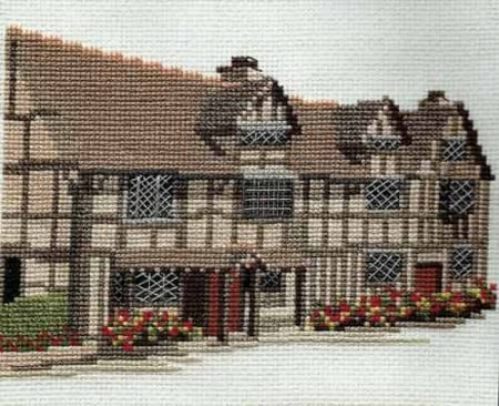 Derwentwater Designs Cross Stitch Kit Shakespeare's Birth Place, House