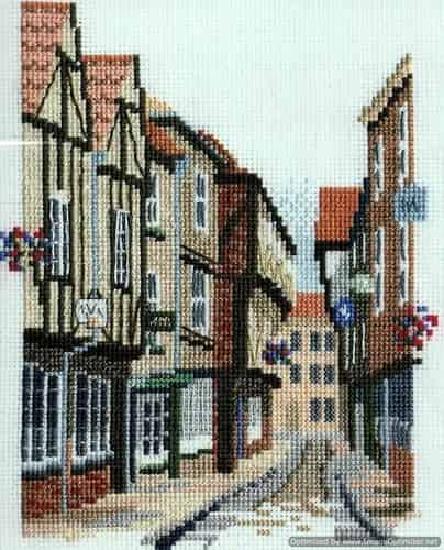 Derwentwater Designs Cross Stitch Kit - Shambles, York