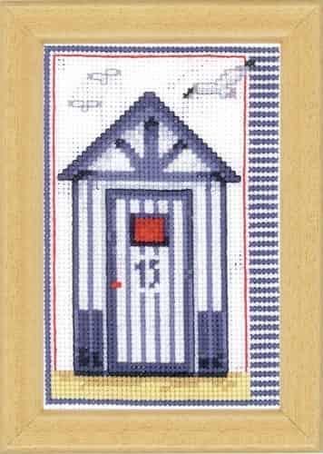 Vervaco Cross Stitch Kit - Beach Shed, Hut