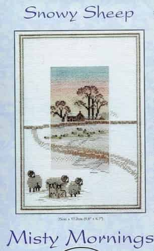 Derwentwater Designs Cross Stitch Kit - Misty Mornings - Snowy Sheep