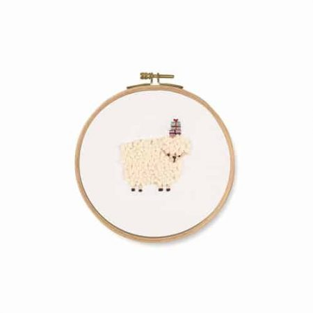 DMC Embroidery Kit -  For You! Sheep - TB124 Printed fabric. Includes hoop