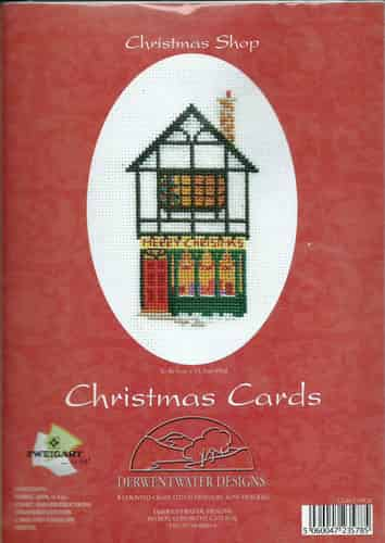 Derwentwater Designs Christmas Card Cross Stitch Kit - Christmas Shop