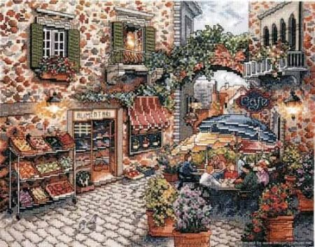Design Works Cross Stitch Kit - Sidewalk Cafe