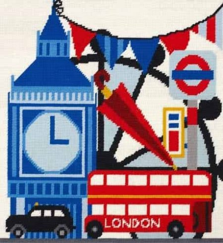 DMC Preprinted Canvas Tapestry - London Sight Seeing