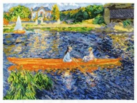 DMC Cross Stitch Kit National Gallery - Renoir - The Skiff BL1068/71
