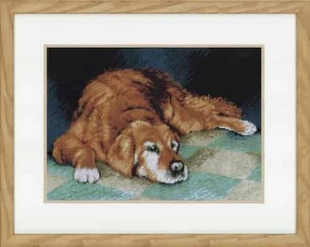 Lanarte Cross Stitch Kit - Sleeping Dog PN-0147568