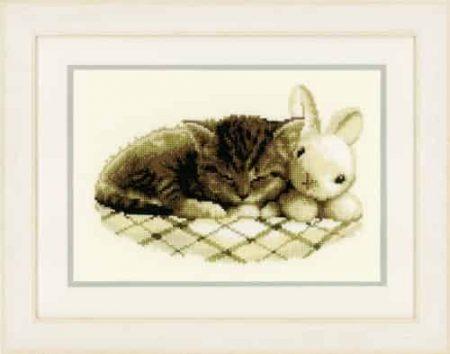 Vervaco Cross Stitch Kit - Sleeping Kitten