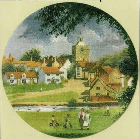 Heritage Crafts Cross Stitch Kit – John Clayton – Circles – Sleepy Village