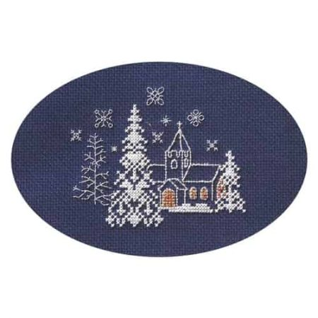 Derwentwater Designs Cross Stitch Kit - Christmas Card, Let it Snow