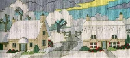 Derwentwater Designs Long Stitch Kit - Lanes Series - Snowy Lane