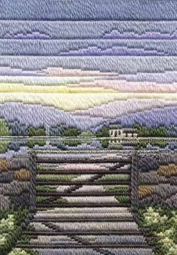 Derwentwater Designs Long Stitch Kit - Seasons Spring Evening