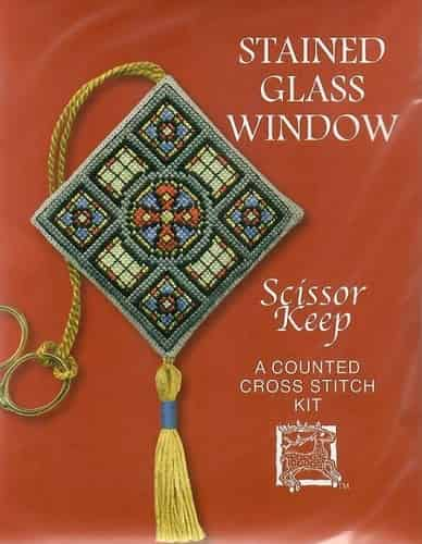 Textile Heritage Cross Stitch Kit - Scissor Keep - Stained Glass Window