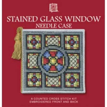 Textile Heritage Cross Stitch Kit - Stained Glass Window Needlecase - Made in Scotland