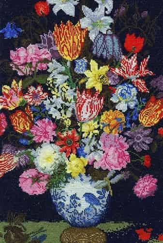 DMC Cross Stitch Kit National Gallery - Bosschaert - Still Life of Flowers
