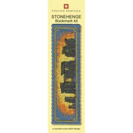 Textile Heritage Cross Stitch Kit - Bookmark - Stonehenge - Made in Scotland