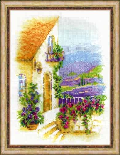 Riolis Cross Stitch Kit - Provence Street, Lavender 1689