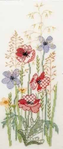 Derwentwater Designs Backstitch Kit - Seasons Panels - Summer