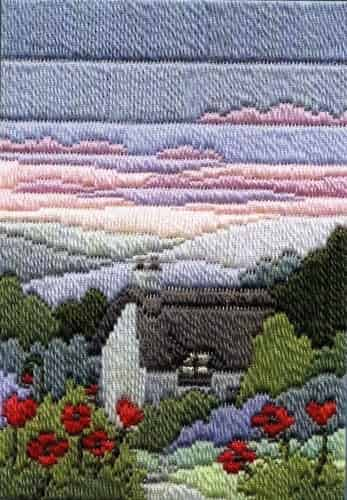 Derwentwater Designs Long Stitch Kit - Seasons Summer Evening