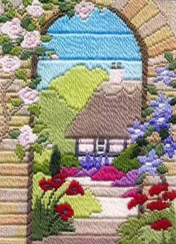 Derwentwater Designs Long Stitch Kit - Seasons, Summer Garden