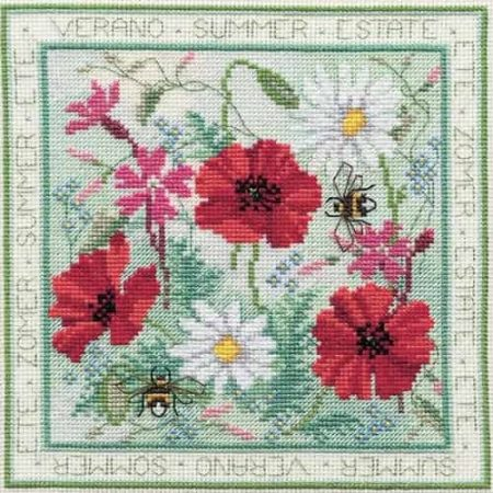 Derwentwater Designs Cross Stitch Kit - Four Seasons, Summer