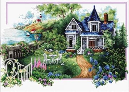 Needleart World No Count Cross Stitch Kit - Season, Cottage, Summer Comes