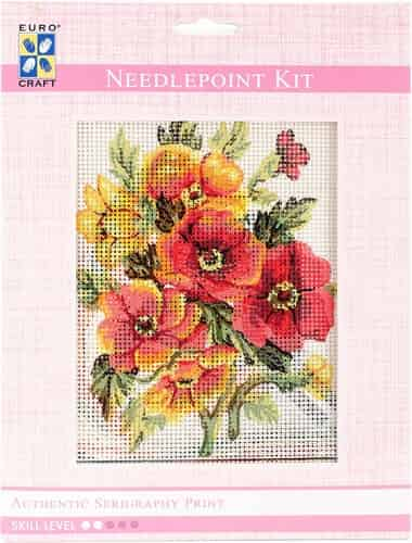 Grafitec Needlepoint Tapestry Kit - Summer Florals, Anemones