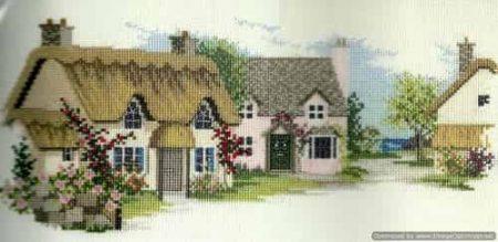 Derwentwater Designs Cross Stitch Kit - Summer Lane, English Village