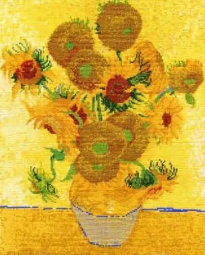 DMC Cross Stitch Kit - National Gallery Van Gogh Sunflowers BL1063/71