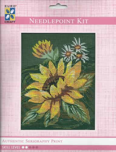 Grafitec Needlepoint Tapestry Kit - Sunflower and Daisies