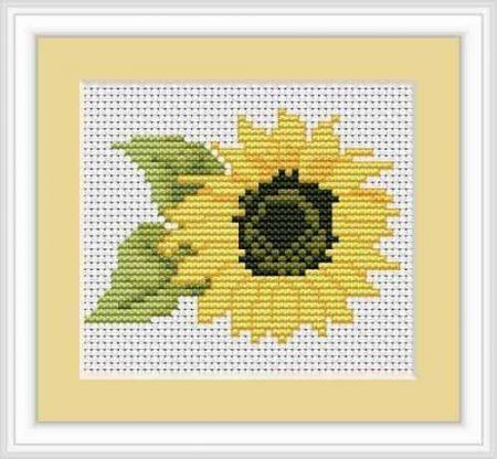 Luca S Cross Stitch Kit - Sunflower