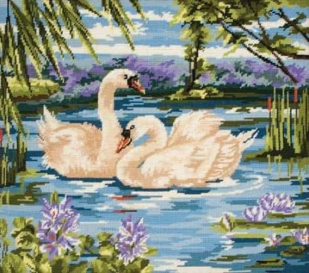 Anchor Needlepoint Tapestry Kit - Swans MR340