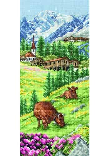 Anchor Cross Stitch Kit - Swiss Alpine Landscape PCE0811