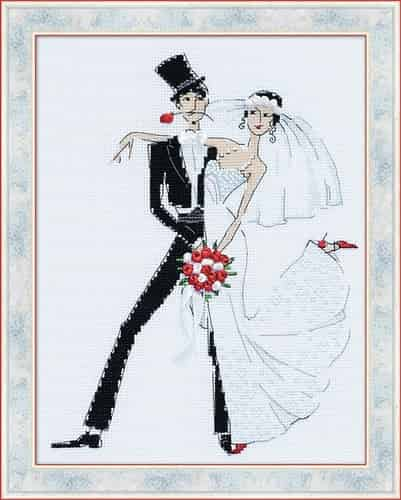 Riolis Cross Stitch Kit - Wedding Tango