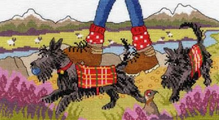 Bothy Threads Cross Stitch Kit - Highland Walkies XJR31