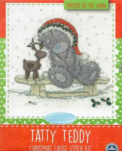 DMC Cross Stitch Kit - Tatty Teddy - Friends in the Snow, Christmas - BL1097/72