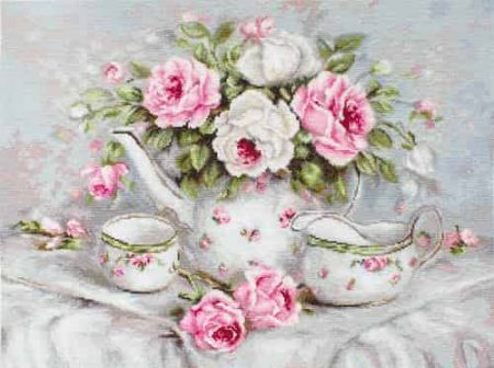 Luca S Needlepoint (Half Cross Stitch) Kit - English Tea and Roses G565