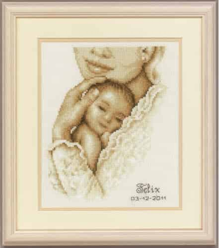 Vervaco Cross Stitch Kit - Tender Moment, Baby