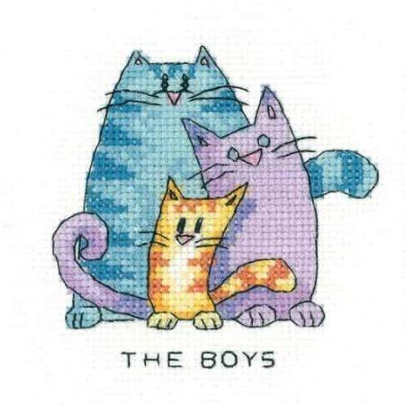 Heritage Crafts Cross Stitch Kit - The Boys