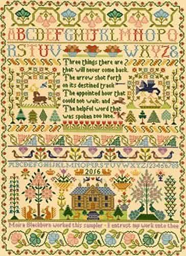 Bothy Threads Cross Stitch Kit - Moira Blackburn Three Things Sampler XS4